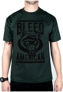Camiseta Bleed American Werewolf Musgo
