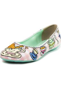 Sapatilha Cupcakes Shoes Bico Redondo Hora Do Chá Rosa