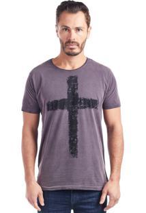 Camiseta Bossa Brasil Cruz Bordô