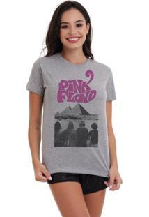 Camiseta Basica Joss Pink Floyd Piramides Cinza Mescla Dtg