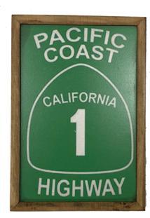 Quadro Decorativa Quarto Sala Pacific Coast 20X30Cm Verde - Vermelho - Dafiti