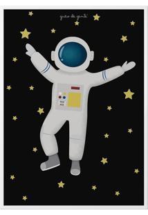 Quadro Astronauta 34Cm Grão De Gente Azul