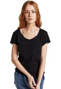 Camiseta Rulfini Store Preta Corte A Fio