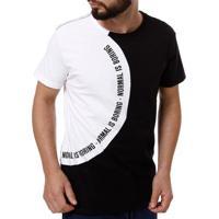 043fa5a6c5 Camiseta Manga Curta Masculina Fido Dido Preto Branco