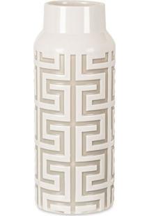 Vaso Meijin Off White 28X11 Cm
