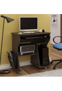 Escrivaninha Para Computador 2 Prateleiras 160 Artely Imbuia/ Preto