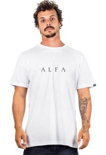 Camiseta Alfa Simple - Masculino-Branco