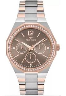 Relógio Feminino Technos Elegance 6P29Ajb/5M - Unissex-Rose Gold