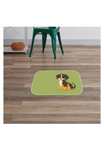 Tapete Decorativo Dog Verde Único