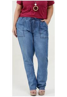 Calça Feminina Jeans Boyfriend Plus Size