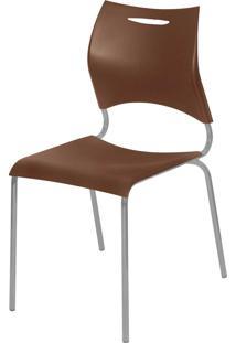 Cadeira Plã¡Stica New Marrom Giobel - Marrom - Dafiti
