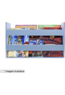 Porta Livros & Revistas De Parede- Azul Claro- 30X50Kapos