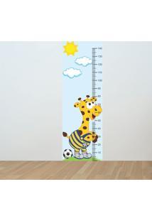 Adesivo Régua De Crescimento Girafa Seleção Brasileira (0,50M X 1,50M)