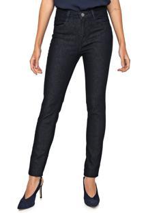 Calça Jeans Dudalina Skinny Lisa Azul-Marinho