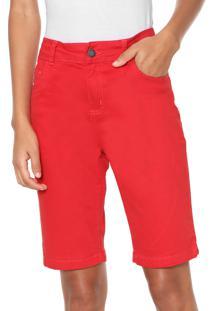 7a15cac9c116f Bermuda Liso Vermelha feminina   Gostei e agora?