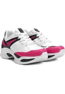 48bb95e1985 ... Tênis Azaleia Chunky Sneaker Feminino - Feminino-Preto+Pink