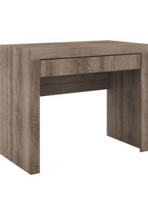 Mesa Escrivaninha De Madeira 1 Gaveta 421 Rústico - Móvel Bento