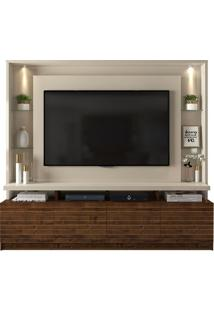 "Estante Home Para Tv Até 60"" Italian Off White/Rústico Malbec"