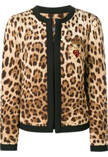 Dolce & Gabbana Jaqueta Matelassê Com Estampa Leopardo - Neutro