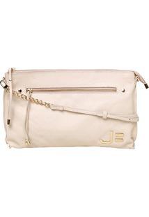 Bolsa Couro Jorge Bischoff Mini Bag Feminina - Feminino-Bege