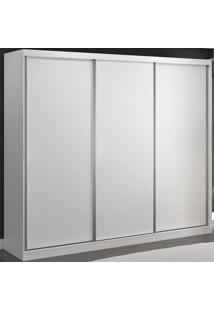 Guarda-Roupa Casal 3 Portas De Correr 100% Mdf 8805 Branco - Foscarini