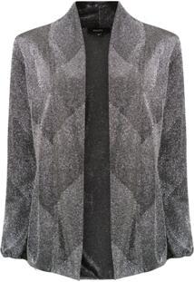 Fillity Blazer Com Metalizado - Cinza