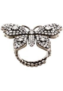 Gucci Anel Butterfly - Metálico