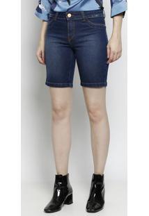 Bermuda Jeans Com Bolsos - Azul Escuro - Scalonscalon