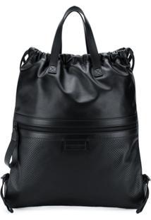 Bottega Veneta Flat Tote Backpack - Preto