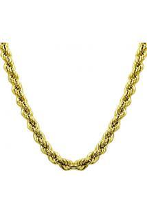 Corrente Malha Corda 40 Cm, Em Ouro Amarelo - Cr4895