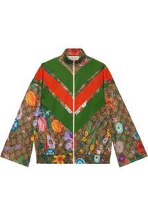 Gucci Flora Gg Supreme Pattern Track Jacket - Verde