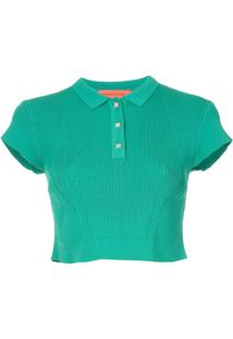 Manning Cartell Blusa Cropped Sublime - Verde