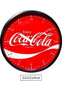 Relógio De Parede Plástico Coca-Cola