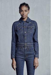 Jaqueta Jeans Feminina Cropped Hering + À La Garçonne