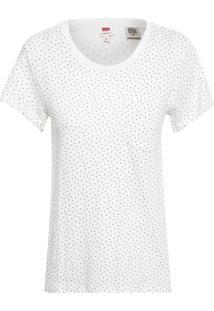 Camiseta Feminina Manga Curta - Off White