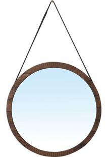 Espelho Berlim Com Moldura Cor Rustic Brown 65 Cm (Larg) - 51129 - Sun House