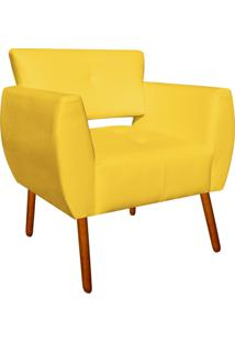 Poltrona Decorativa Josy Corino Amarelo Pés Palito - D'Rossi