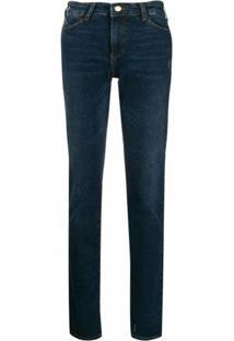 Emporio Armani Calça Jeans Skinny Cintura Baixa - Azul