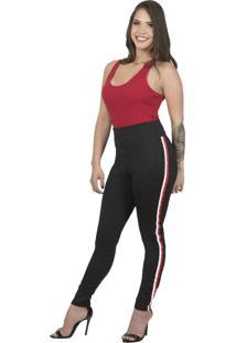 Calça Legging Shop Modas Plus Size Sm18-2108 Preto