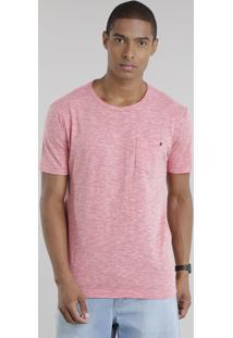 Camiseta Flamê Com Bolso E Ilhós Coral