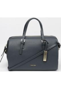 Bolsa Lisa Com Bag Charm- Azul Marinho- 24,5X32X17Cmcalvin Klein