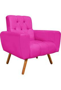 Poltrona Decorativa Pietra Suede Pink Com Pés Palito - D'Rossi