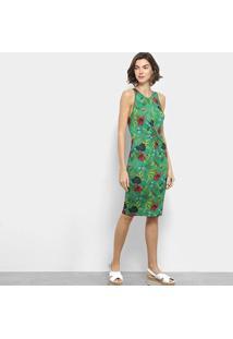 f2d6910f9 ... Vestido Estampado Colcci Feminino - Feminino-Verde