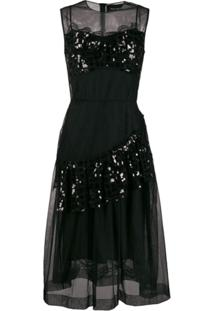 Simone Rocha Bustier Full Dress - Preto
