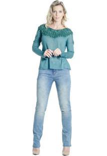Blusa Crochet Feito À Mão Alessandra Aleixo