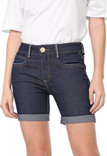 Bermuda Jeans Lança Perfume Slim Low Azul-Marinho
