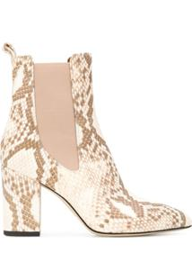 Paris Texas Embossed Pull-On Ankle Boots - Neutro