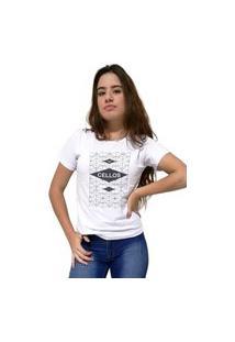 Camiseta Feminina Cellos Raspberry Premium Branco