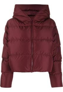 Bacon Cloud Hooded Puffer Jacket - Vermelho
