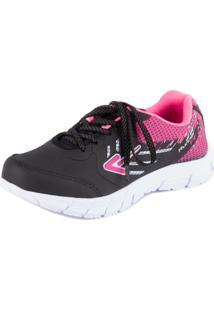 Tênis Running - Box 200 - Masculino-Preto+Pink